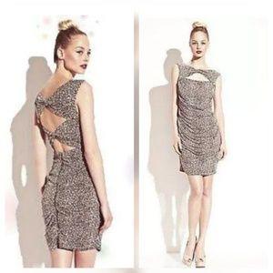 {Betsey Johnson} Leopard Print Bodycon Dress Sz 14